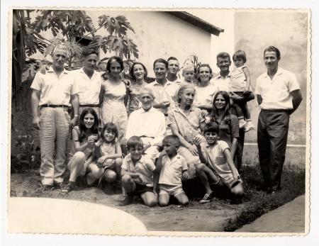 João Júlio da Silveira, Alcina Monteiro, filhos e netos, Penápolis-SP, Brazil, 25 de dezembro de1968