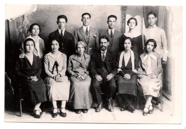 Carlos Justino Monteiro, Maria do Carmos de Souza e seus 10 filhos em Penápolis-SP na década de 1920